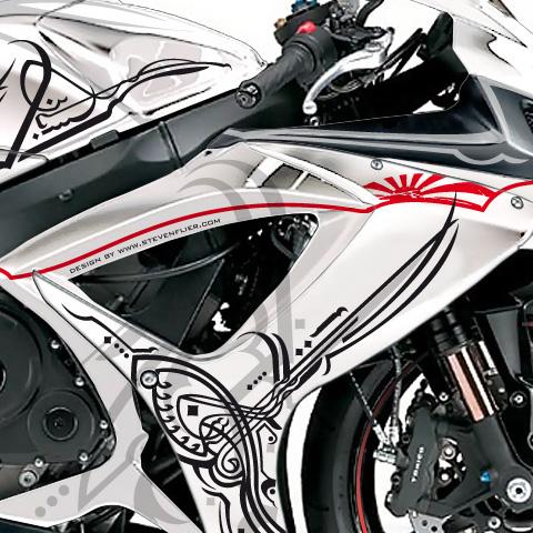 Boso San GSX-R 750 – Kanatli Qir Att – Arabic Design