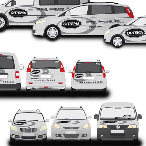 ORTEMA – Design für Fahrzeugflotte & Event-Bus