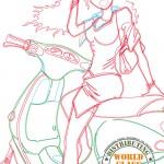 First vectors - PinUp Vespagirl 2011 - Roller & MotorradBox Stuttgart