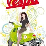 Artprint - PinUp Vespagirl 2011 - Steven Flier