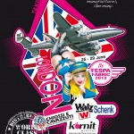 Flight Girl PinUp Super Constellation - London FESPA FABRIC 2013 - T-Shirt Walz GmbH
