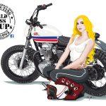 PinUp - Cafe Racer Girl W800 - LSL Motorradtechnik