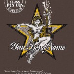 Need a new Band-Logo? Pinup Guitar Girl