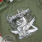 T-Shirt - PinUp - Simmozheimer Angel - cool olive