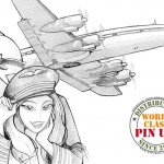 First scribble Flight Girl PinUp 2013