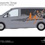 Design template GasGas Enduro-Team Transporter - MB Vito