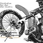 Vector illustration GasGas Enduro-Team Transporter - MB Vito