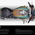 Digital design of the 27th Bikerfest Lignano Sabbiadoro themebike. Free Spirits Triumph America