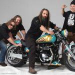 The team arround the Triumph America Themebike »27th Bikerfest Lignano Sabbiadoro« - Steven, Hups, Marcello, WildThing