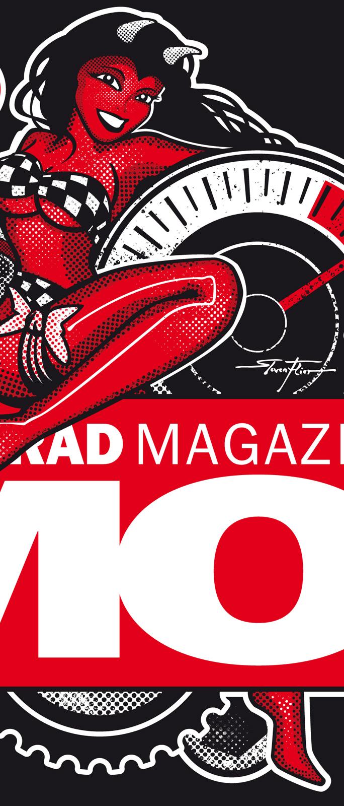 PinUp, Illustration, Cafe Racer, Vektor, Vector, Steven Flier, Motorrad Magazin MO