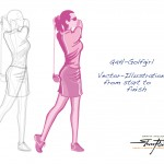 Quality 4 Health - Personal Illustration - Golfgirl
