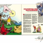 GolfPunk Comic illustrations, 4 page article about about Golf-Gods and Golf Demons