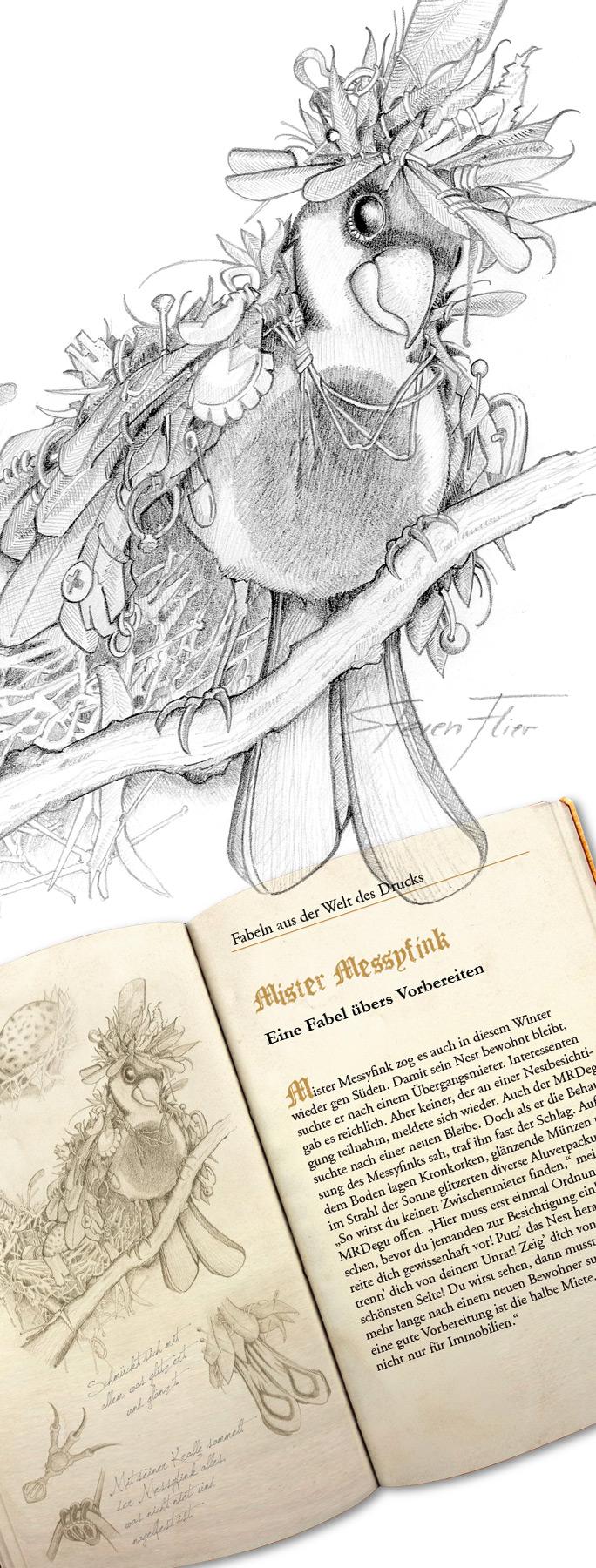 Pencil, Bleistift, Illustration, Fabeltier, Fabulous Beast, Druckerei MRD, Brockschmidt, Steven Flier