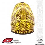 O'Neal Airtech 2 Oozy - Maori Design - Yellow-Purple by Steven Flier