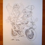 For Sale! Original X-Mas Drawing - Steven Flier
