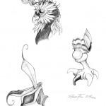 Pencil Illustration Fabulous Beast - Pfeule - Details