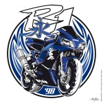 A Yamaha R1 '98 tattoo template (the first R1 and the real beast)