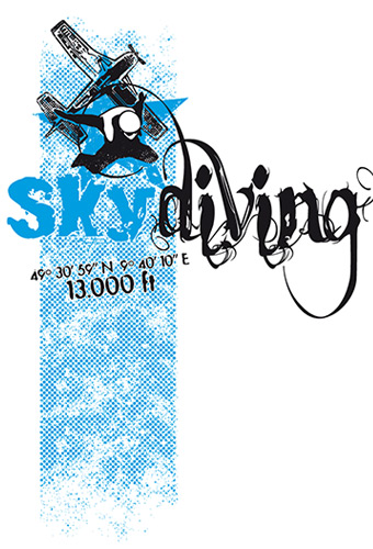 Skytandem.de – Logo & Skydive Illustration