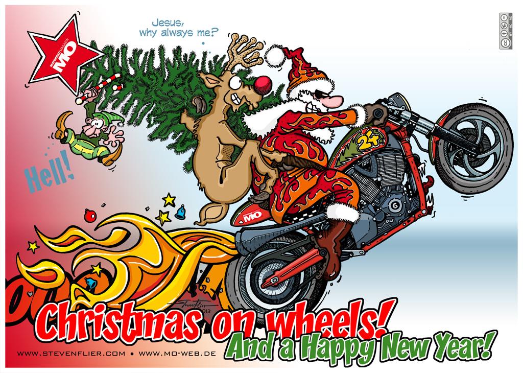 Frohe Weihnachten Motorrad.Grafik Atelier Steven Flier For Free Motorcycle Christmas