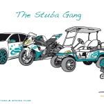 Stuba Illustration - The Stuba Gang