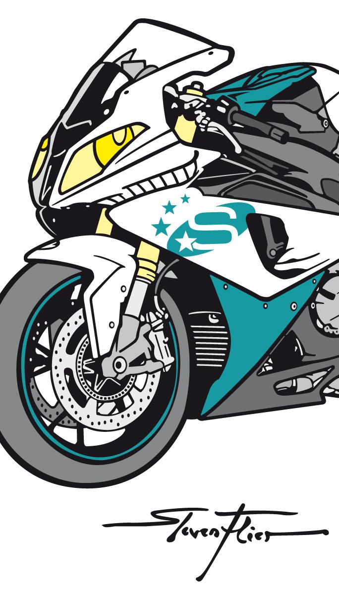 Illustration, Vektor, Vecor, Vehicles, Fahrzeuge, BMW S 1000 RR, Stuba, Starterbatterien, Steven Flier
