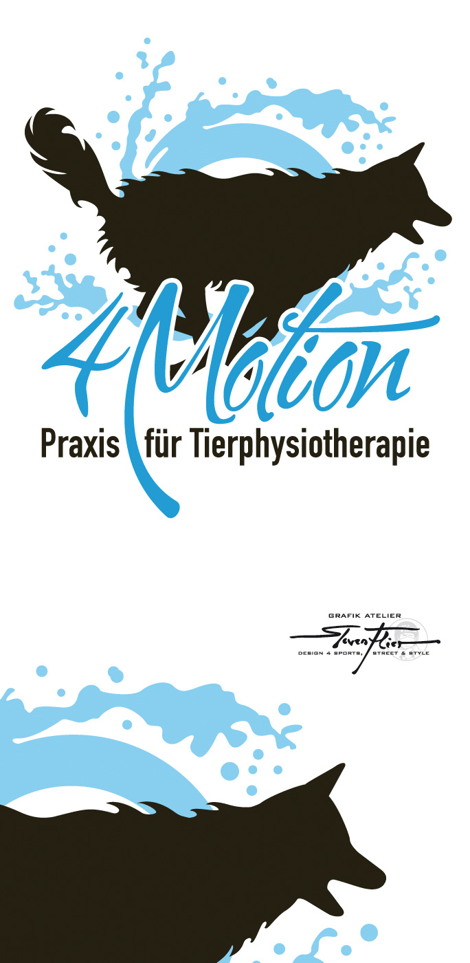 Illustration, Logo, Design, Vector, Vektor, Steven Flier, 4Motion, Praxis, Tierphysiotherapie