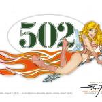 PinUp Speedangel - Sticker Old School Vespa - Steven Flier