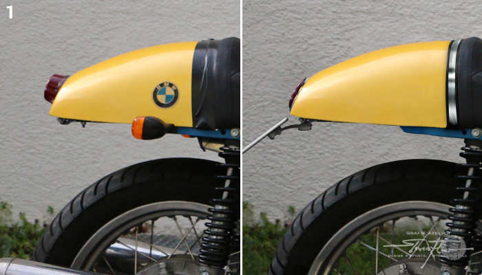 Virtual Tuning '78 BMW R100 Cafe Racer - Heck / Cover Back