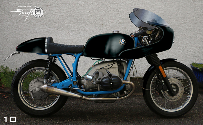 Virtual Tuning '78 BMW R100 Cafe Racer - Uni Schwarz / Plain Black