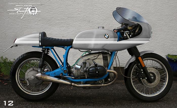 Virtual Tuning '78 BMW R100 Cafe Racer - Design Studie Grau-Weiß / Design Study Grey-White