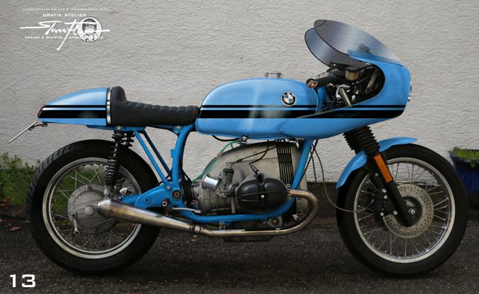Virtual Tuning '78 BMW R100 Cafe Racer - Design Studie Blau-Schwarz / Design Study Blue-Black