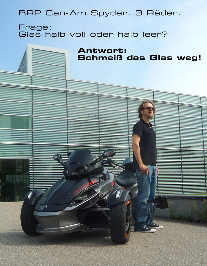 Motor-Blog Steven Flier - Can-Am Spyder RS-S - Philosophie