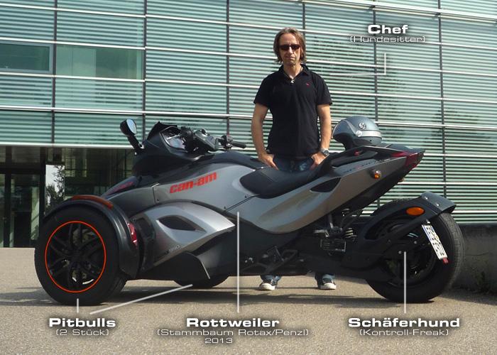 Motor-Blog Steven Flier - Can-Am Spyder RS-S - Vier Hunde für ein Halleluja