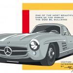 Illustration Mercedes 300 SL Gullwing by Steven Flier