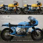 Virtual Tuning '78 BMW R100 Cafe Racer - Design Studie Blau / Design Study Blue