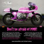 Virtual Tuning '78 BMW R100 Cafe Racer - Design Studie Pink / Design Study Pink