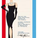 Illustration and interpretation of Audrey Hepburn playing Holly Golightly