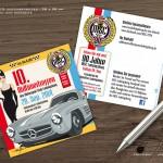 Titel & Rückseite Flyer MSC Ludwigsburg - 10. Oldtimertreffen 2014