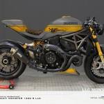 Virtual Tuning LLC Ducati 1200 S - Design Studie Grau-Gold / Design Study Gray-Gold