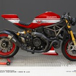 Virtual Tuning LLC Ducati 1200 S - Design Studie Rot-Weiß / Design Study Red-White