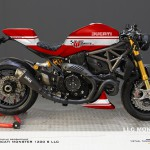 Virtual Tuning LLC Ducati 1200 S - Design Studie2 Rot-Weiß / Design Study2 Red-White