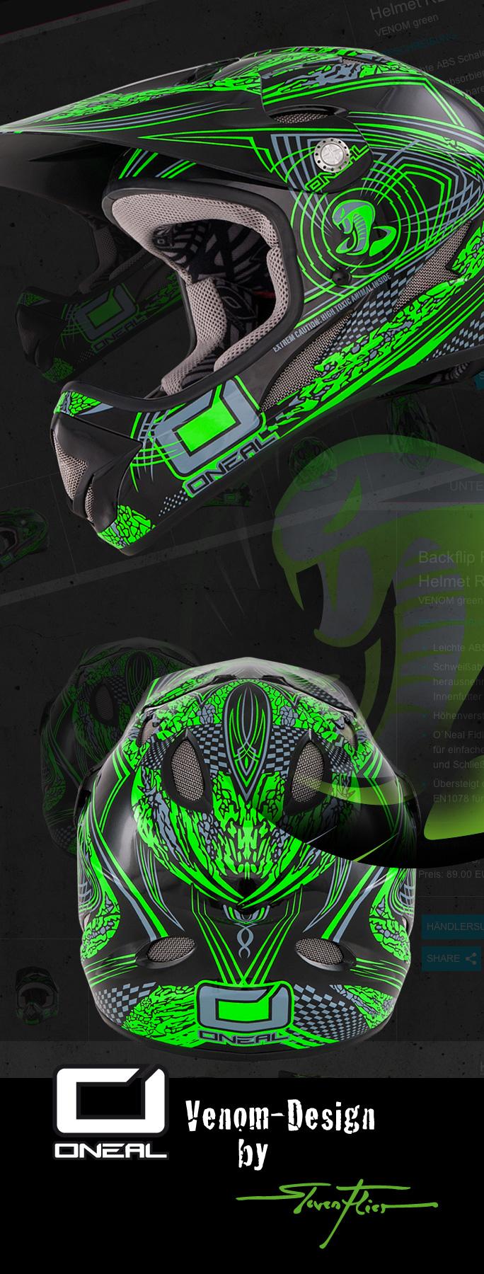 O'Neal Europe, 2Wheel-Distribution, Helm, Helmet, MTB, Downhill, Fury, Biohazard, Airtech 2, Oozy, Maori, Design, Steven Flier