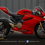 Virtual Tuning Ducati Panigale 1199 / 1299 - Heartbeat Red - Client Limbächer