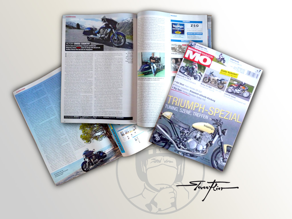 Victory Cross Country - 2011 (o. ABS) - Fahrbericht Motorrad Magazin MO Nr. 7 / 2011