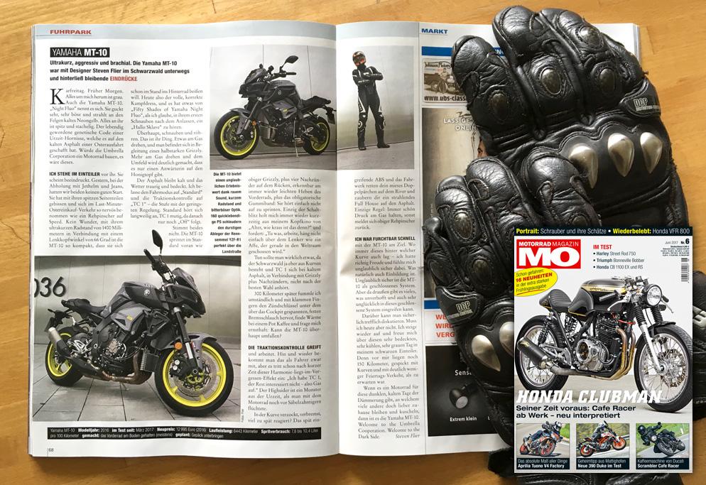 Yamaha MT-10 - Motorrad Magazin MO Nr. 6/2017