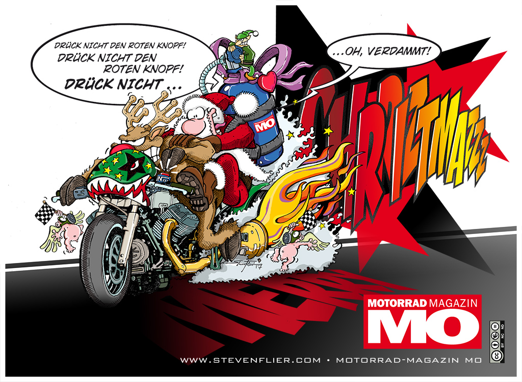 Christmas Card 2017 - Motorcycle Magazine MO - Steven Flier - Deutsch