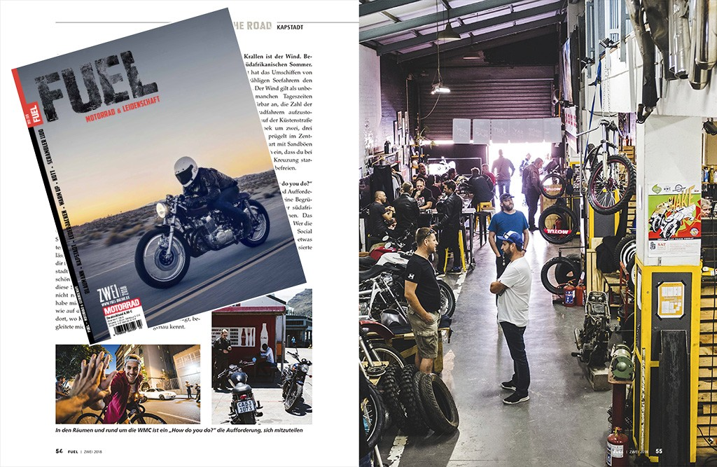 """Life and ride in Cape Town"" - FUEL No. 2 / 2018 - Page 54-55"