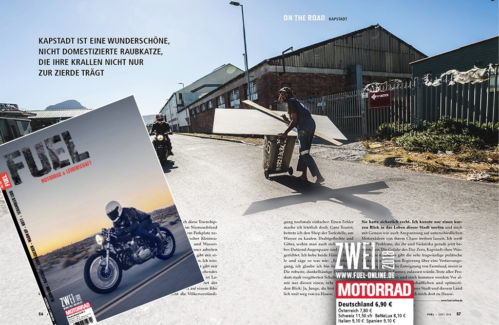 """Life and ride in Cape Town"" - FUEL No. 2 / 2018 - Page 56-57"