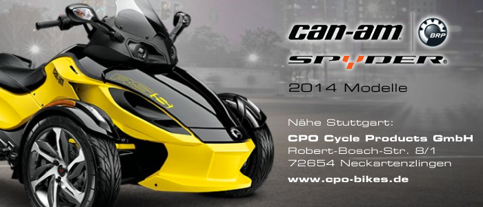 Motor-Blog Steven Flier - Can-Am Spyder RS-S - Link / Advertising