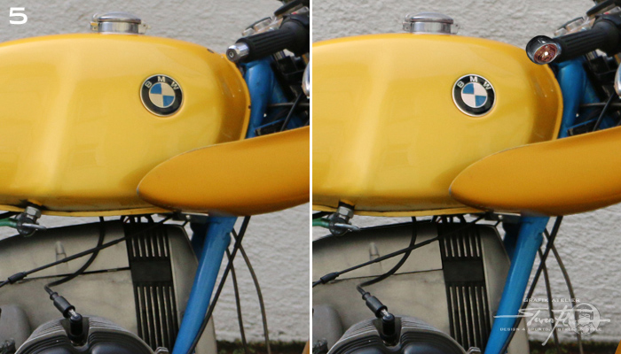 Virtual Tuning '78 BMW R100 Cafe Racer - Tank - Blinker / Tank - Indicator